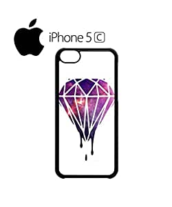 Dripping Diamond Galaxy Mobile Cell Phone Case Cover iPhone 5c Black