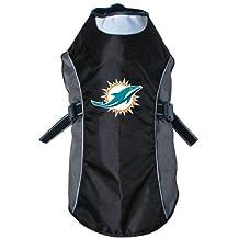 NFL Miami Dolphins Hunter Reflective Pet Jacket, X-Large, Black or Navy
