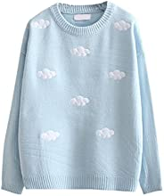 Packitcute Loose Knitted Sweaters for Women Cute Cloud Sweater Pullover