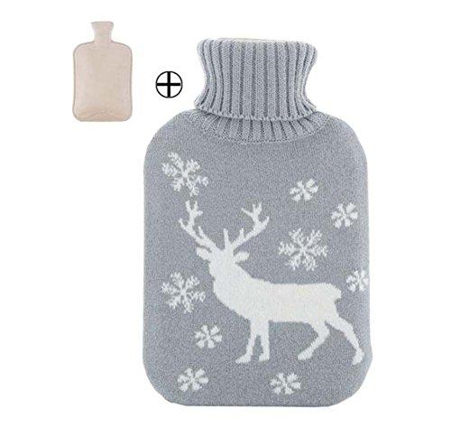 1L Wärmflasche Klassische Premium Hot Rubber Bag mit Softcover, Katze, A2