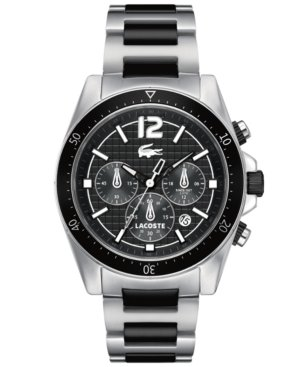 Lacoste Seattle Chronograph Silver and Black Stainless Steel Men's watch #2010708
