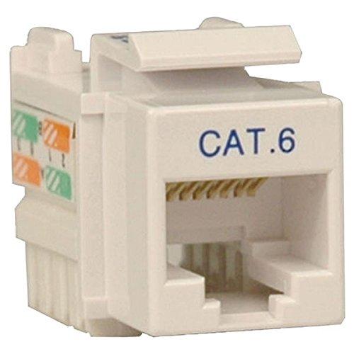 TRIPP LITE Cat6/5e White Wallplate Keystone Jack, Punch-Down/RJ45 F TAA GSA (N238-001-WH)