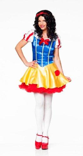 Snow Queen Costume Uk (Snow White Queen Female Fancy Dress Costume & Headband - Small (US 6-8))