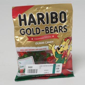 HARIBO CHRISTMAS GOLDEN BEAR 4 OZ, Case Pack of 12