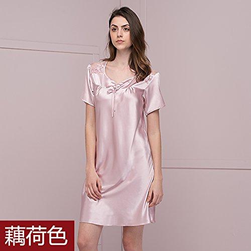 camicia manica estate Skirt notte casa pigiama cotone Poly lunga dress Ladies moda Breve da pizzo qwHIAagxg4