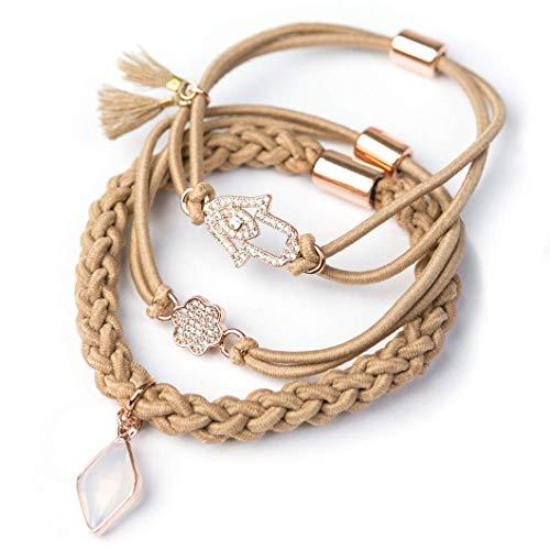 (Gemtye Hair Ties/Bracelets (Love and Luck))