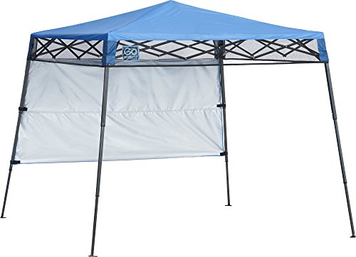 Quik Shade Go Hybrid 6' x 6' Sun Protection Pop-Up Compact and Lightweight 7' x 7' Base Slant Leg Backpack Canopy (Best Pop Up Shade)
