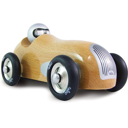 Sports Car Toy, Natural Wood ()
