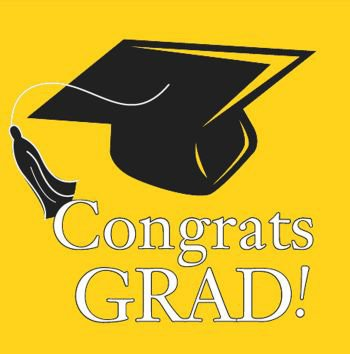 Congrats Grad Colors Yellow Beverage Napkins High School College Parties 36 Ct (Black And Yellow Graduation Decorations)