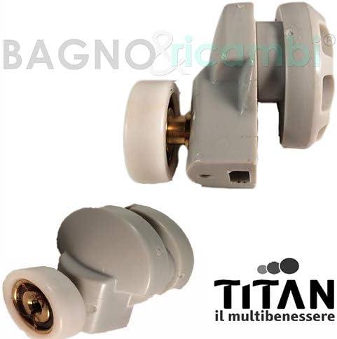Titan Recambio Grupo Rueda para Cabina Ducha Gris q8785iu: Amazon ...