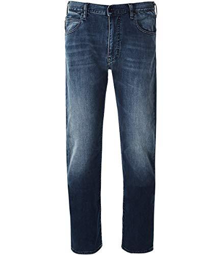 Armani Men's J45 Regular Fit Jeans 33 Regular Denim Blue