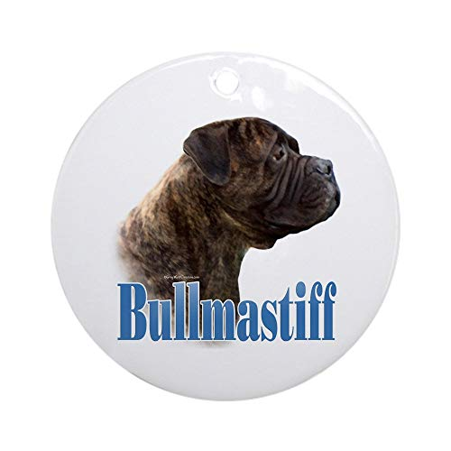 CafePress Bullmastiff(Brindle) Name Ornament (Round) Round Holiday Christmas Ornament