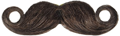 amscan Brown Mini Handlebar Moustache Costume - Mens Handlebar