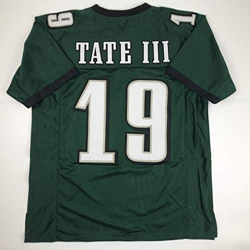 Unsigned Golden Tate III Philadelphia Green Custom Stitched Football Jersey Size XL New No Brands/Logos