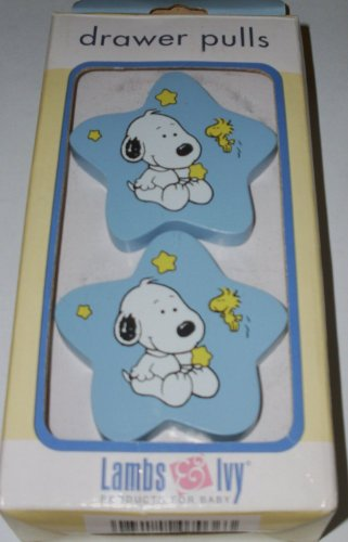 Peanuts Baby Snoopy Wooden Drawer Pulls, Handles - Nursery Decor