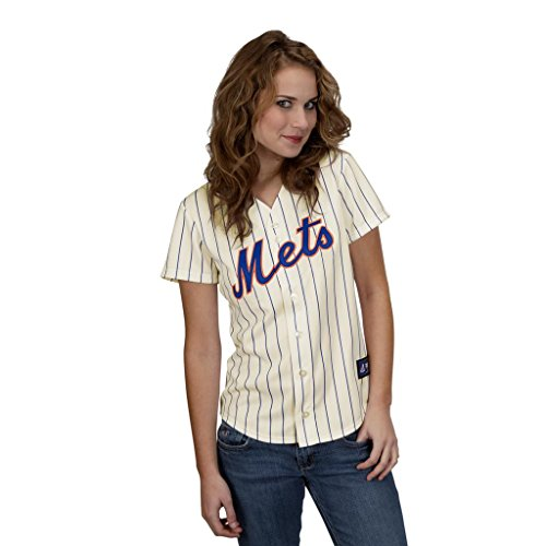 MLB New York Mets Home Replica Baseball Women's Jersey, Ivory/Royal, XX-Large