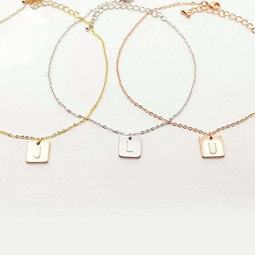 Personalized Dainty Dangle Charm Initial Anklet Charm Anklet Gift for Her Body Jewelry Initial Pendant - SA