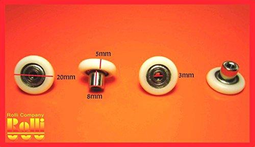 8-rulli-ruote-rullo-cuscinetti-per-box-doccia-anta-scorrevole-ricambi-a283