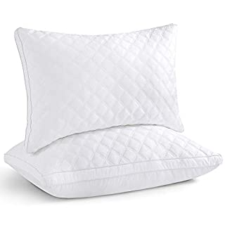 Oubonun Adjustable Down Alternative Bed Pillows for Sleeping, Queen Size, 2 Pack
