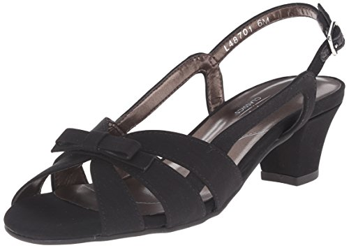 Rose Petals Mujeres Lela Dress Sandal Black Micro