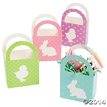 Fun Express Mini Easter Baskets/Party Supplies/Gift Boxes/Party Favors   - Easter Basket Oriental