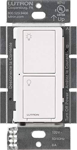 Lutron PD-6ANS-WH Caseta Wireless Smart Lighting Switch for All Bulb Types & Fan