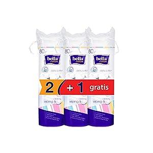 Bella Cotton Pads – 80 Pieces (Buy 2 Get 1 Free)