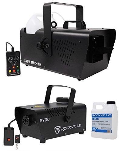 Chauvet DJ SM 250 Portable DMX Snow Machine w/ Remote+Free Fog Machine w/ Remote by Chauvet