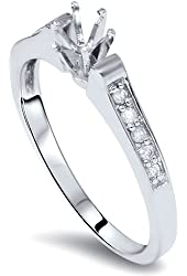 Diamond Engagement Semi Mount Ring Setting White Gold