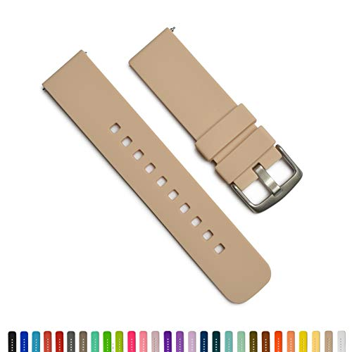 GadgetWraps 14mm Silicone Watch Band - 14mm Watch Band Silicone with Quick Release Watch Pins - Accessories for Men and Women 14mm Quick Release Watch Band with 29 Unique Colors (Sand, 14mm)