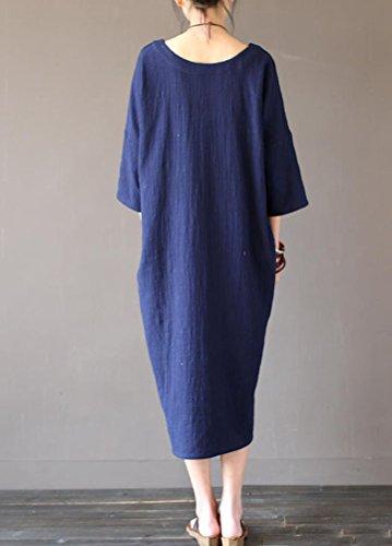 Damen leinenkleider lang