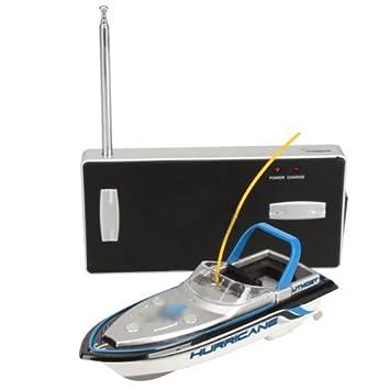 Dcolor Barco Mini RC Radiocontrol Remoto Juguete Metal Azul