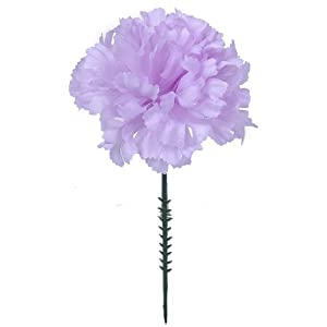 "100 Carnations 5"" Lavander Artificial Silk Flower Picks - 4"" Diameter - Multple Colors Available 92"