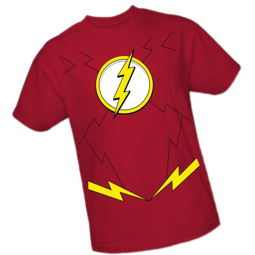 Flash Movie Costume New (Flash Costume -- DC Comics - The New 52 Adult T-Shirt,)