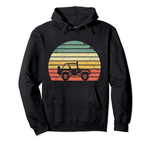 Vintage Jeeps Hoodie Retro 70s Off Road Sunset Hoodie