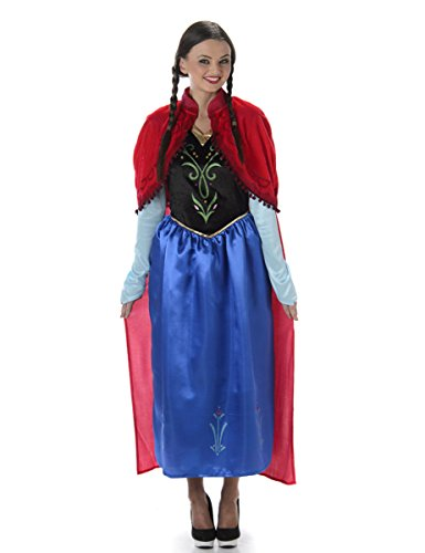 Winter Princess Costume - Halloween Womens Fairytale Storybook Outfit, Medium -