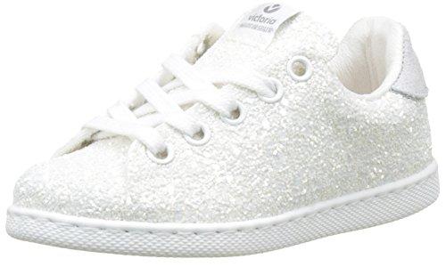 victoria Mädchen Deportivo Glitter Flach Weiß (Blanco)
