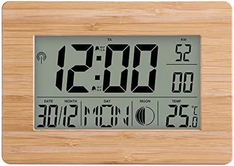 POWER BANKS LCD Reloj Digital de Pared Alarma Número Grande Tamaño ...