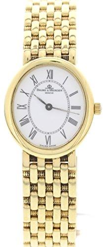 Baume & Mercier 18k Yellow Gold swiss-quartz womens Watch MV04A177 (Certified Pre-owned)