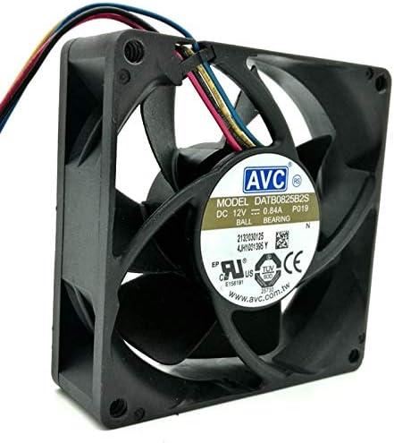80mm fan For AVC DATB0825B2S 8025 DC 12V 0.84A PWM speed winds cooling fan