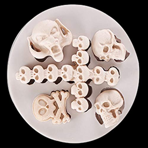 Water Hep Cake Pop Mold Home Skull Head Silicone Fondant Cake Mould Halloween Party Pops Decoration Candy Chocolate