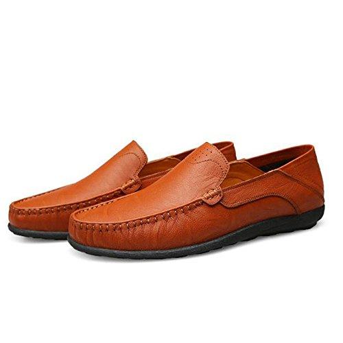 de Cuero Four Marrón Seasons Ocasionales Zapatos Men Respirables pqgxRRa
