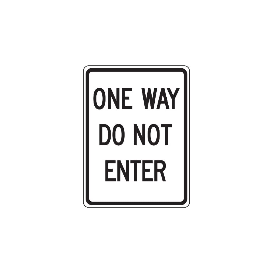 Accuform Signs FRR124RA Engineer Grade Reflective Aluminum Facility Traffic Sign, Legend ONE WAY DO NOT ENTER, 24 Length x 18 Width x 0.080 Thickness, Black on White