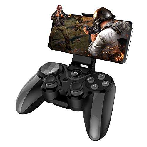 Aceyyk Wireless Mobile Game Controller,4.0 Bluetooth Gamepad with Joystick Multimedia Game Controller Compatible with iOS Android Mobile Phone PC Android (Madden 25 Mobile)