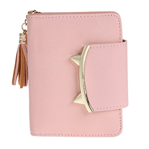 JD Million shop Cute Cat Ears Leather Short Tassel Women Wallet Small Day Clutch Trifold - Models Old Oakley