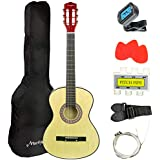 Martin Smith 38 Inch Acoustic Guitar, Natural, With Case, Pick, Tuner, Strap, Extra Strings and 2 months of Lessons