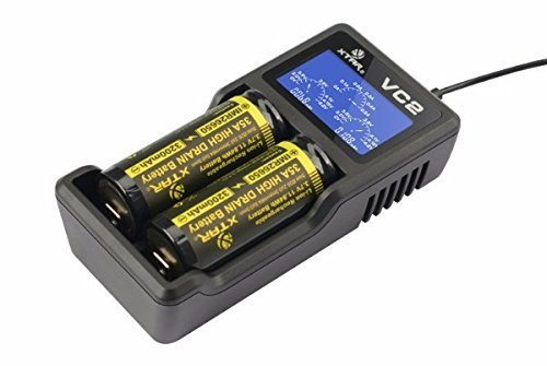 XTAR VC2 Charger with LCD Display Screen