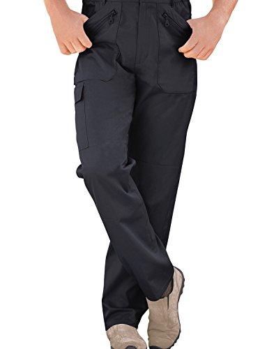 Hommes Élastiquée Pantalon De Travail Combat Multi Poche Cargo Bleu 117cm x 74cm