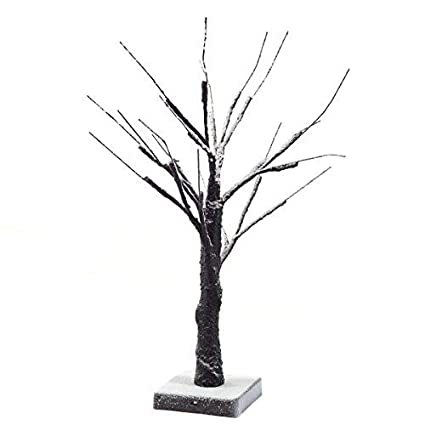 goplus birch lighted tree led floor lamp warm white for christmas tree party wedding