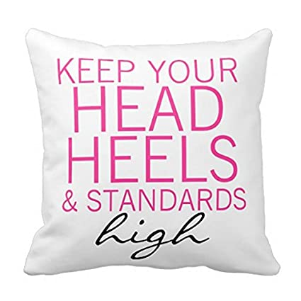 Amazon LANYE Keep Your Head Heels Standards High Throw Pillow Unique Pillow That Covers Your Head